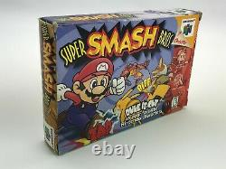 Super Smash Bros. (Nintendo 64 N64, 1999) COMPLETE IN BOX CIB Authentic