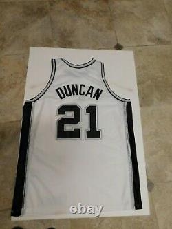 Tim Duncan San Antonio Spurs Nike Authentic Jersey NBA size 52 XXL Game 2003 2XL