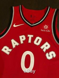 Toronto Raptors CJ Miles Nike Game Worn Issued Used Authentic Jersey Pro Cut
