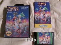 Trouble Shooter (Sega Genesis, 1991) Complete CIB Authentic
