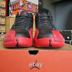 US 12 Nike Air Jordan 12 Flu Game Bred 2016 XII Retro OG 130690-002 AUTHENTIC
