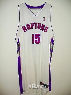Vince Carter Game Worn Used Authentic PHOTO MATCHED Toronto Raptors Jersey LOA