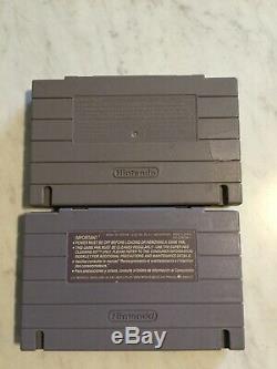 Wild Guns & Robocop 3 (Super Nintendo, SNES) Authentic Games Tested Lot
