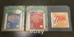 Zelda Gameboy Lot. Oracle of Ages Seasons Links Awakening DX AUTHENTIC SAVES