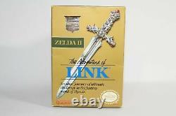 Zelda II The Adventure of Link NES Complete in Box CIB Authentic Good Condition