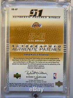 03/04 Sp Jeu Utilisé Bryant Jersey Authentique Kobe Auto Patch Lakers # / 50