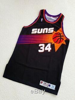 100% Authentique Charles Barkley Champion 94 95 Suns Portés Publié Jersey Utilisé