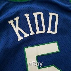 100% Authentique Jason Kidd Rookie Champion 94 95 Mavericks Portés Jersey Occasion