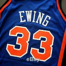 100% Authentique Patrick Ewing 99 00 New York Knicks Portés Émis Jersey Occasion
