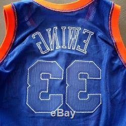 100% Authentique Patrick Ewing Champion 92 93 Knicks Portés Émis Jersey Occasion