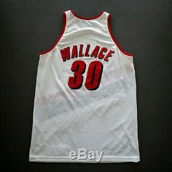 100% Authentique Rasheed Wallace 2001 Blazer Photomatched Portés Jersey Occasion