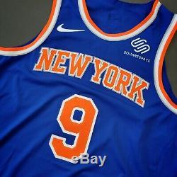 100% Authentique Rj Barrett Nike Knicks Jeu Taille Jersey 48 Délivré + 6 Usé Utilisé
