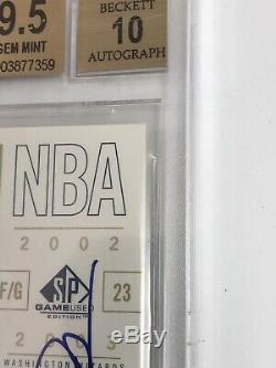 10/25 Sp Authentique Michael Jordan Jeu Utilisé Jersey Auto Patch Autograph / 100 Bgs