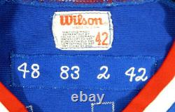 1983 Cubs De Chicago Dickie Noles #48 Jeu Utilisé Maillot Bleu
