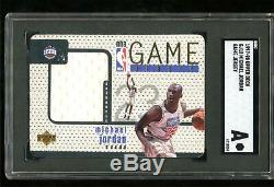 1997 Upper Deck # Gj13 Michael Jordan Game-jersey Utilisé Sgc Authentique