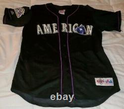 1998 Mlb All-star Game Ligue Américaine Authentique Jersey Cousu Sur Vintage
