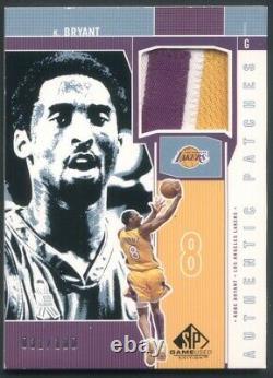 2001-02 Ud Kobe Bryant Authentic Patches Sp Jeu Utilisé #'d À 100 Lakers Hof