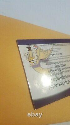 2001 Fleer Noms Authentiques Du Jeu Randy Moss Jersey Swatch Auto 5/50 Signé