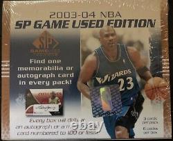 2003-2004 Upper Deck Sp Jeu Utilisé Basketball Hobby Box Factory Scellé