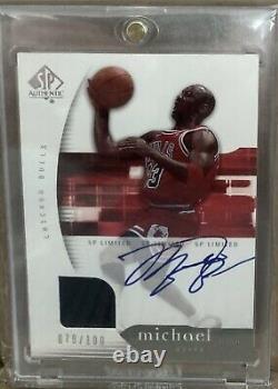 2004-05 Upper Deck Sp Authentic Michael Jordan Bulls Jeu Utilisé Auto /100 Sur Carte