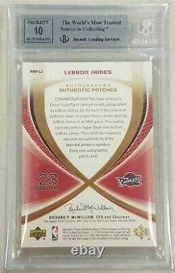 2005-06 Sp 5/25 Jeu Utilisé Tissus Authentiques Auto Patches Lebron James Bgs 9 10