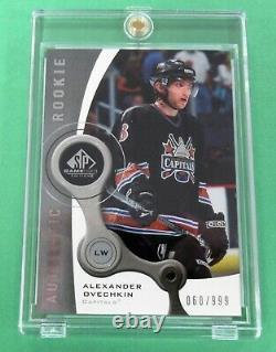 2005-06 Sp Jeu Utilisé Alexander (alex) Ovechkin Rc Authentic Rookie #/999 Caps