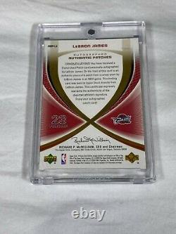 2005-06 Sp Jeu Utilisé Tissus Authentiques Auto Patches Lebron James #4/25