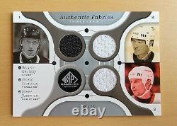 2005-06 Sp Jeu Utilisé Tissus Authentiques Jersey Wayne Gretzky Lemieux Yzerman 8/25