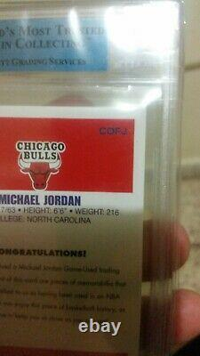 2007-08 Fleer Michael Jordan Rookie Reprint Jeu Used Floor/jersey Piece #rcf
