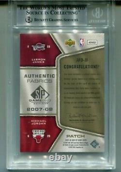 2007-08 Jeu Utilisé Tissus Authentiques Dual Patch True Mint Jordan / James Bgs 9 /50