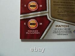 2007-08 Stockton Olajuwon Drexler Eaton Ud Sp Jeu Utilisé Authentic Fabric #3/10