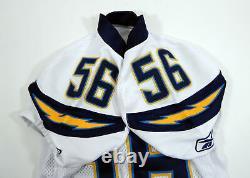 2010 San Diego Chargers Shawne Merriman #56 Jeu Utilisé White Jersey
