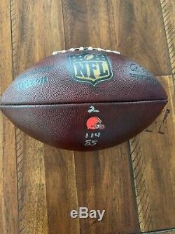 2017 NFL Cleveland Browns Jeu Utilisé Authentic Wilson Football