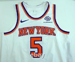 2018-19 New York Knicks Courtney Lee # 5 Jeu Utilisé Jersey Nets Vs Blanc 3 Pts