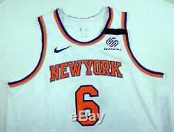 2018-19 New York Knicks Deandre Jordan # 6 Jeu Utilisé Blanc Jersey Ramsey Band 3 P