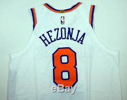 2018-19 New York Knicks Mario Hezonja # 8 Jeu Utilisé Jersey Blanc Vs Bkn 12519