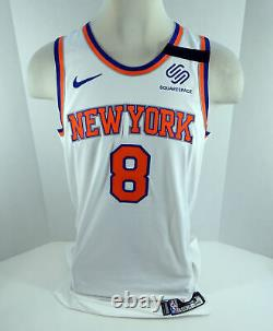 2018-19 New York Knicks Mario Hezonja #8 Jeu Utilisé White Jersey Ramsey Band 8 Pt