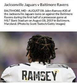 2019 NFL 100 Jeu Authentique Usé Jalen Ramsey Jaguars Rams Jersey 3 Jeux