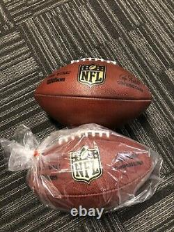 (2) Wilson Officiel NFL The Duke Football On Field Game Ball Cuir Authentique