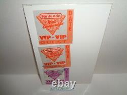 3 Championnats Du Monde De Nintendo Authentique Rare 1990 Patches Vip De Nwc Event