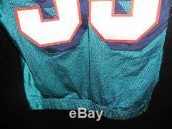 # 55 Miami Dolphins Junior Seau Jeu Utilisé Teal Authentique Jersey Taille-46 Année 2004