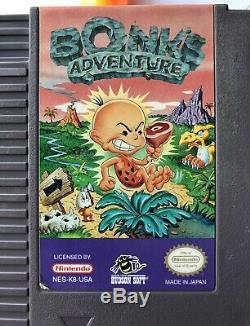 Adventure Bonk (nintendo, Nes) 100% Authentique Et Extrêmement Rare