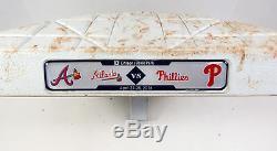 Atlanta Braves À Philadelphie Phillies Jeu Utilisé 3e Base 28.04.18 Markakis Hr