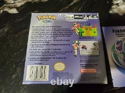 Authentic Pokemon Crystal Version (game Boy Color, 2001) Cib Complete /w Manuel