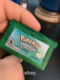 Authentic Pokemon Emerald Gameboy Boy Advance, Batterie À Sec