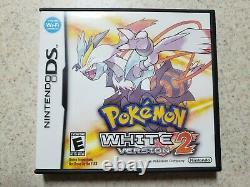 Authentic Pokemon White Version 2 (nintendo Ds, 2012) Complet Dans La Boîte Cib