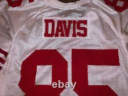 Authentic Vernon Davis Sf 49ers Team Émis Game Worn Used Jersey