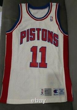 Authentic Vintage Champion Pistons Isiah Thomas Jersey 40 Jeu Publié