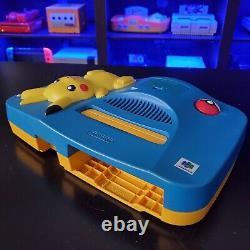 Authenticblue Pikachu Nintendo 64 N64 Region Console Pokémon Gratuite Avec Jeux
