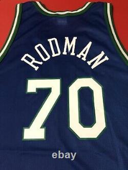 Authentique Dennis Rodman Dallas Mavericks Jersey Retro Sewn Procut Jeu Vtg Nba L